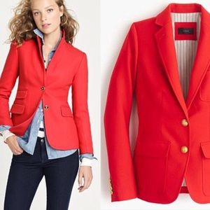 J. Crew Red Schoolboy Blazer Size 2